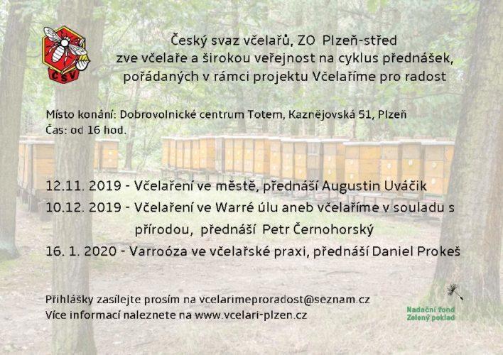 Pozvánka na přednášky do Plzně